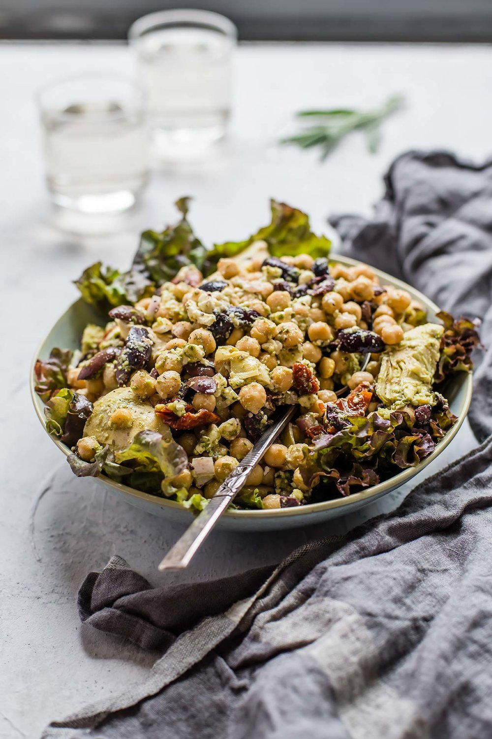Chickpea Antipasto Salad