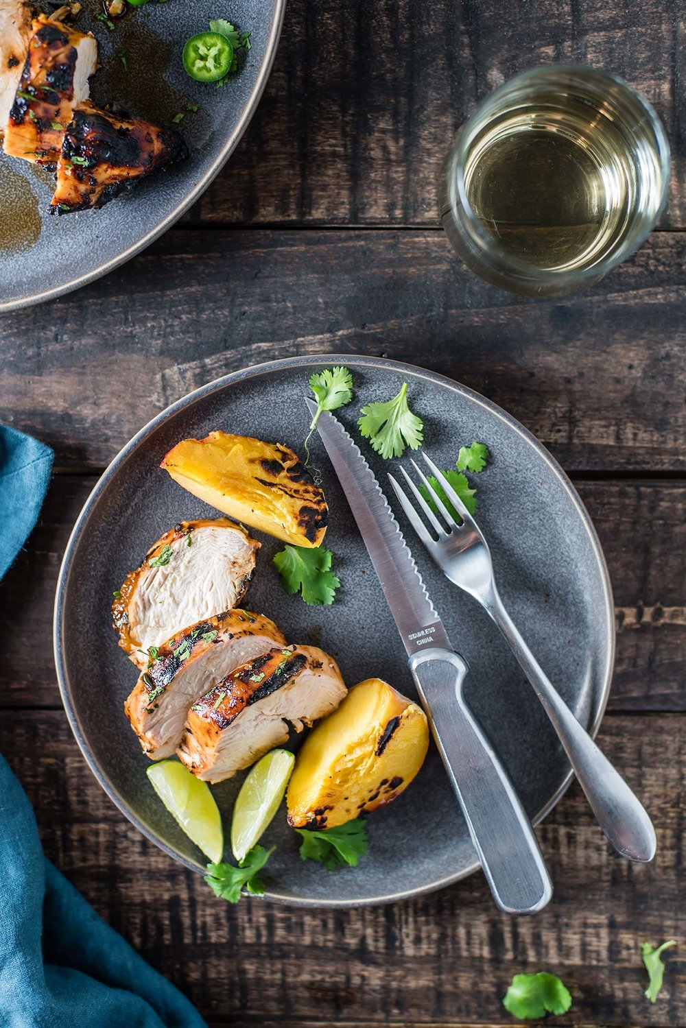 Peach-Jalapeño Grilled Chicken