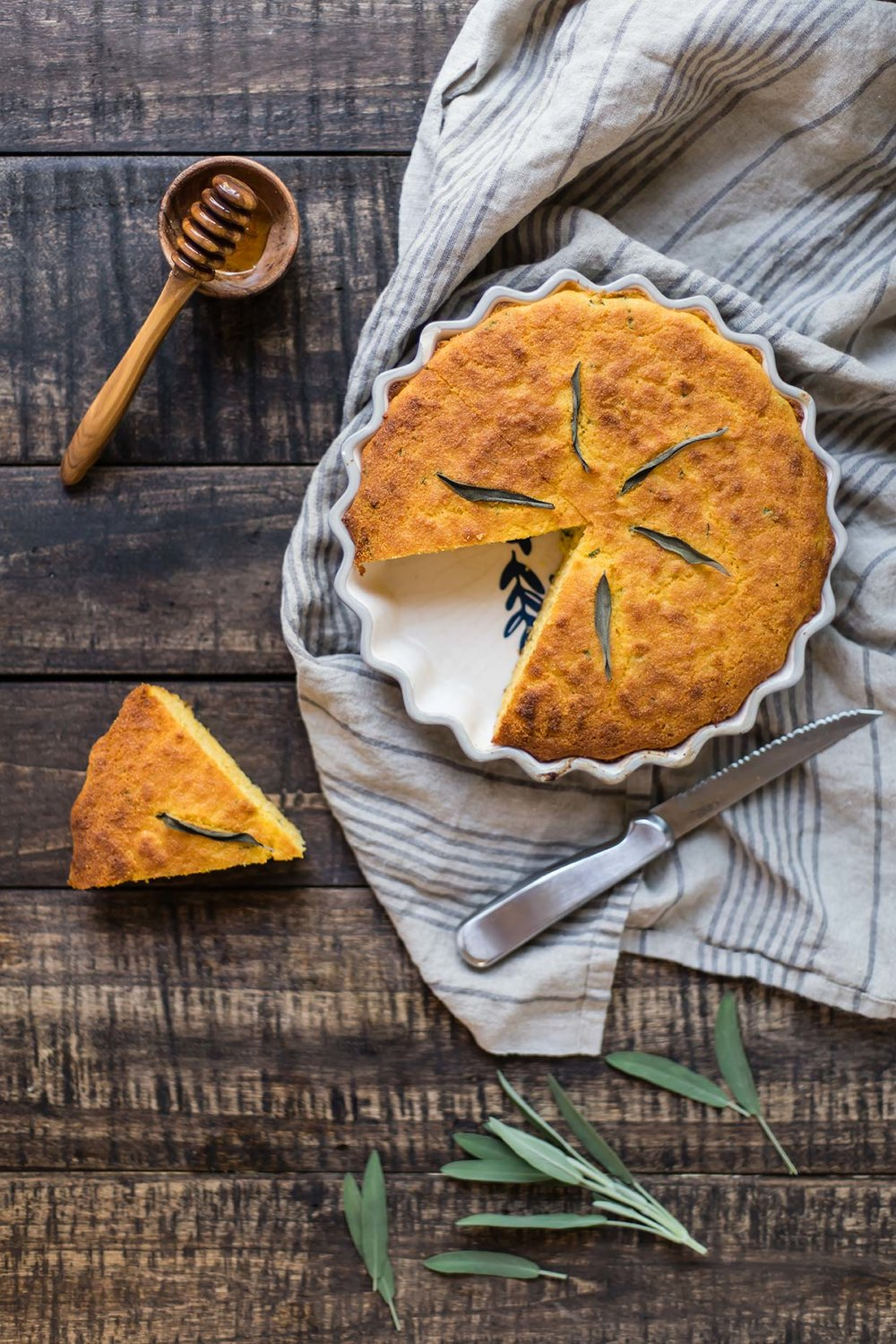 Gluten-Free Sage & Honey Corn Bread