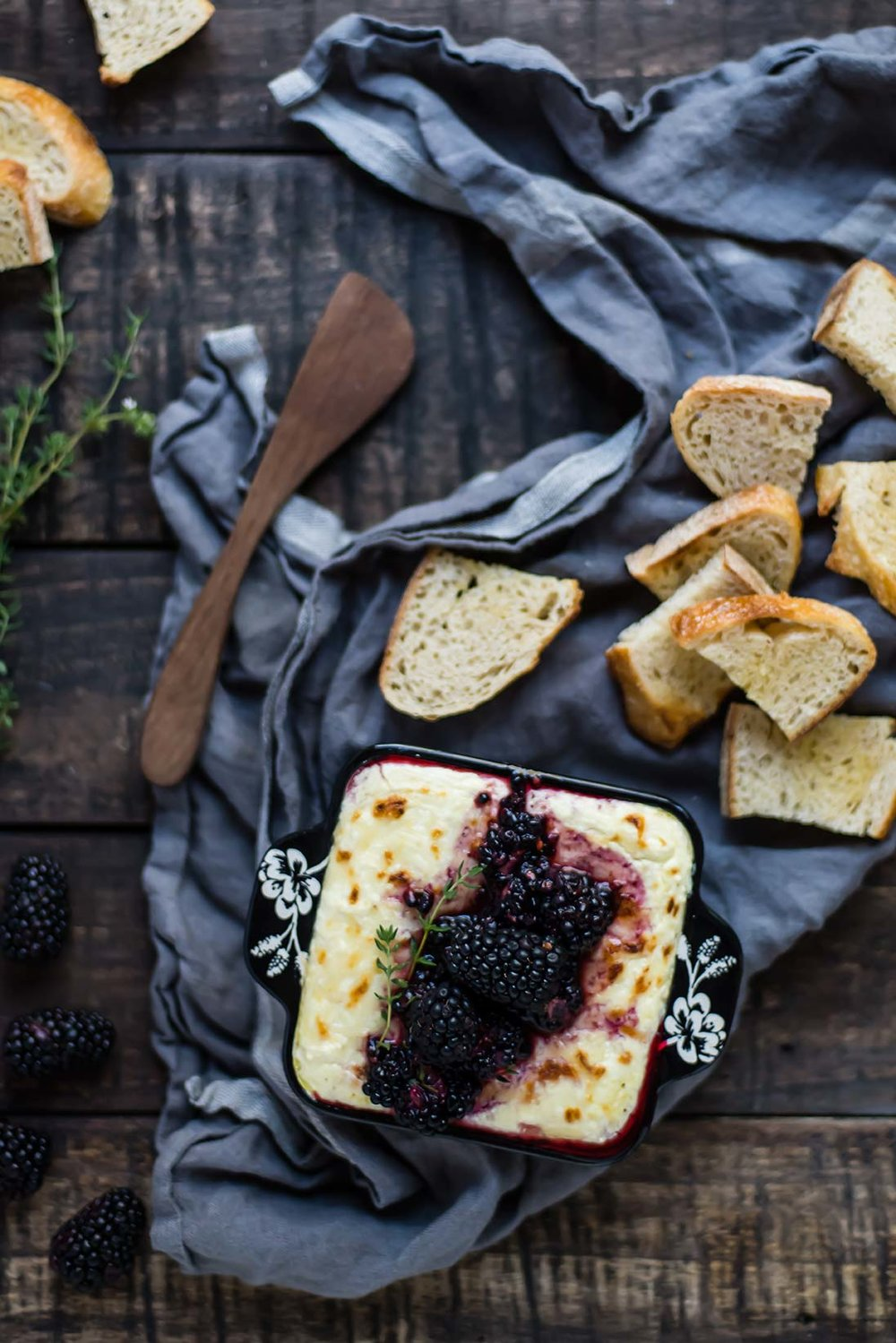 Baked Ricotta with Blackberry-Thyme Smash