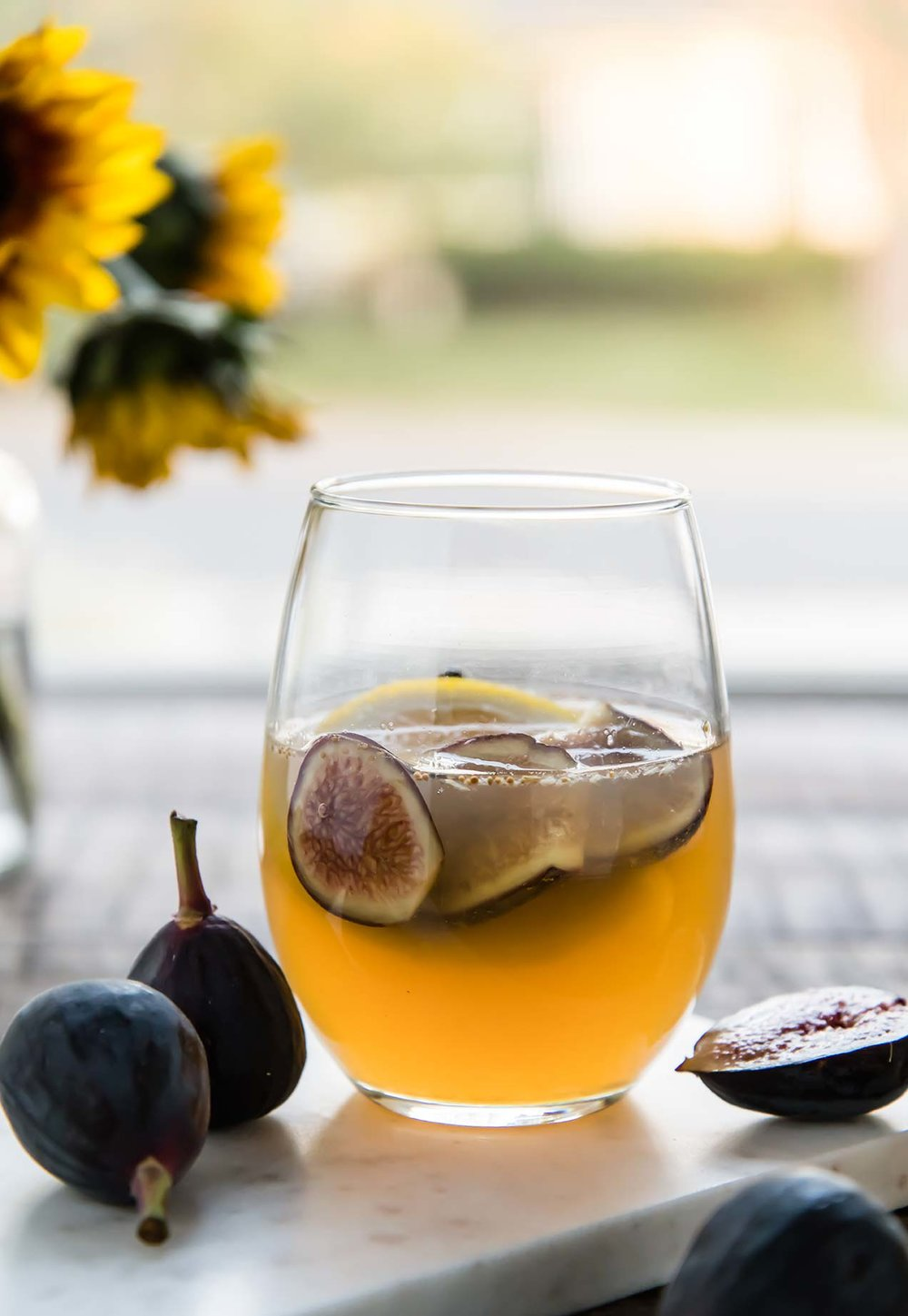White Sangria with Figs and Pears