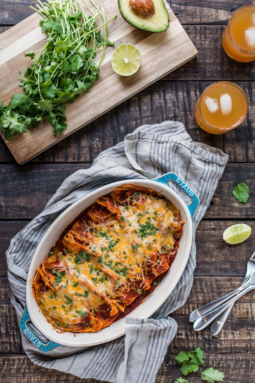 Leftover Turkey Enchiladas