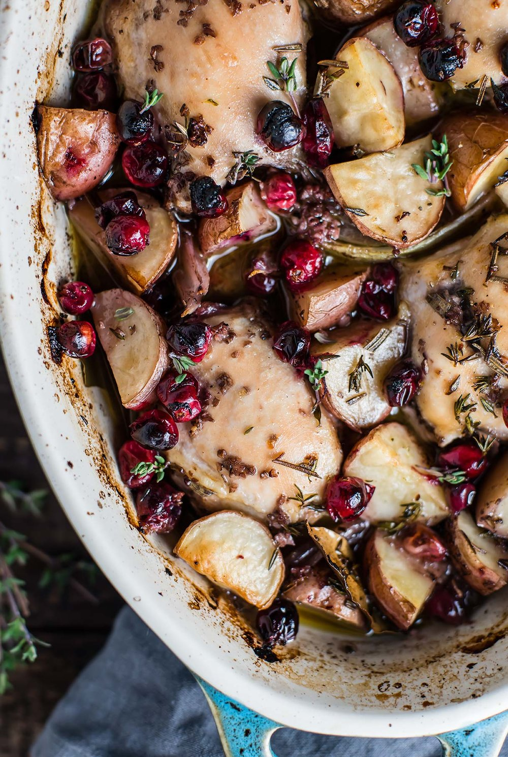 Cranberry-Pinot Noir Chicken Roast