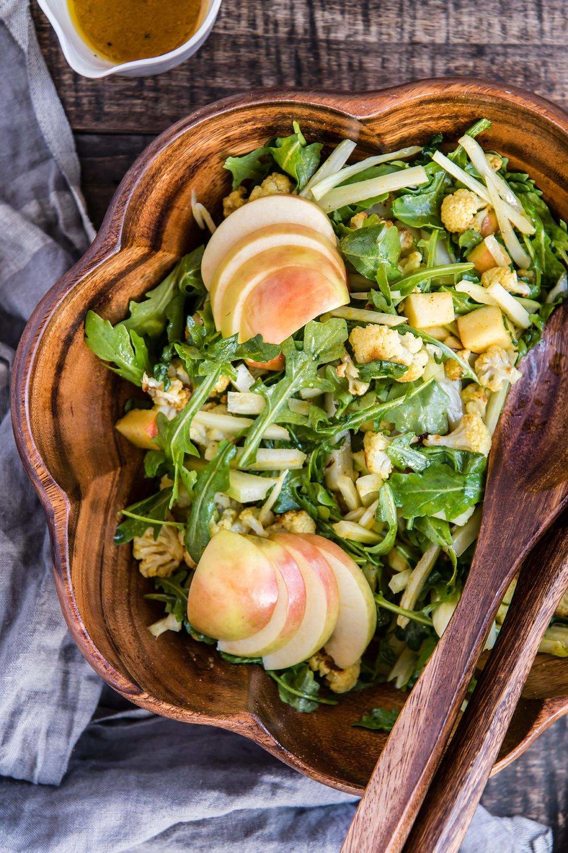 Curried Cauliflower Salad with Apple & Fennel