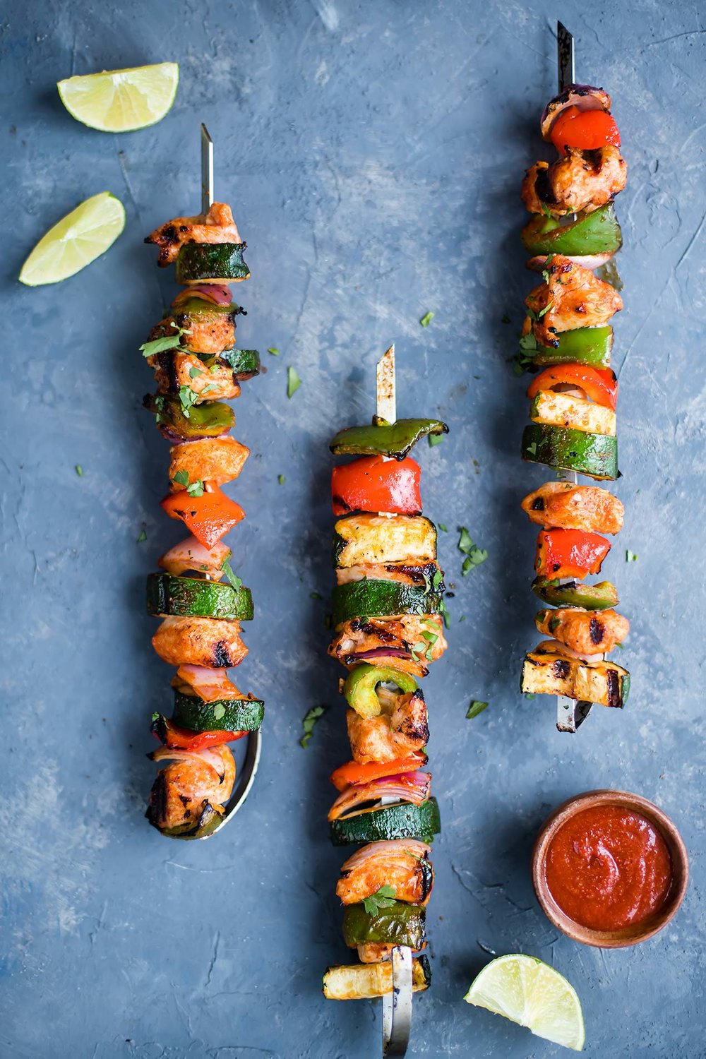 Maple Sriracha Barbecue Chicken Kabobs