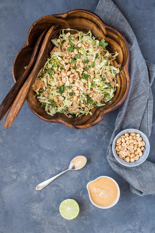 Crunchy Cabbage & Peanut Slaw