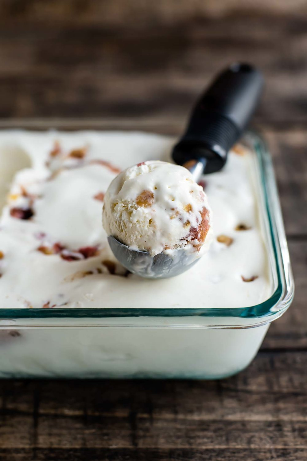 No-Churn Rhubarb Crisp Ice Cream