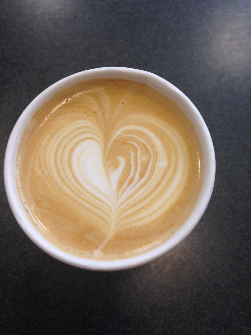 My latte, clearly made with love
