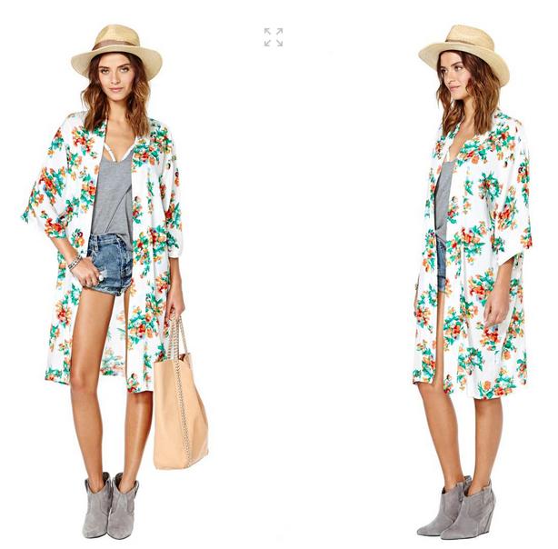 Nasty Gal Reverse Kimono - $68.00