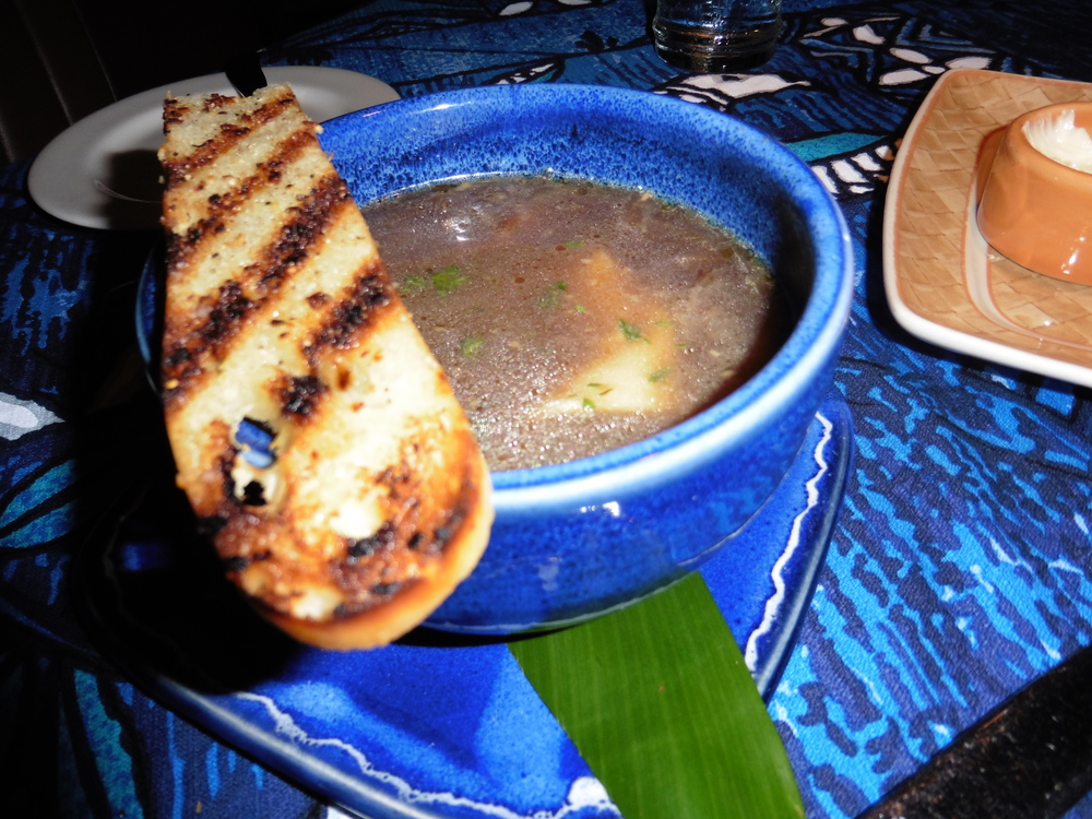 Maui onion soup - yum.