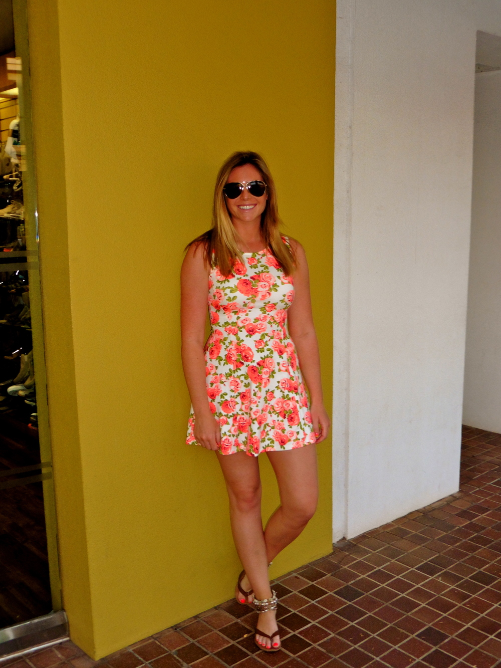 Loved this summery number for a last night dinner