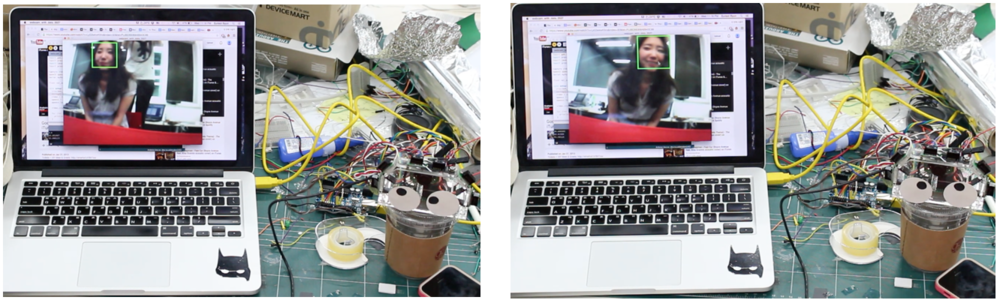 A low resolution USB camera was tested. The face detection worked well. However, USB camera always had to be connected to a computer, weakening Googly's concept of stand-alone module.