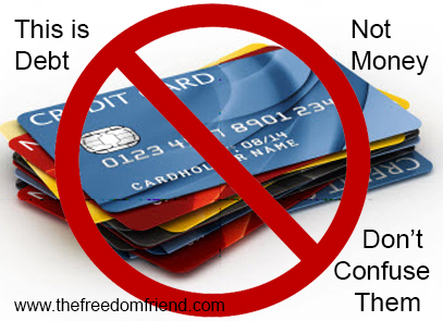 Credit cards are the opposite of money. For something to be money, it must STORE value and be a MEASURE of value. Credit cards do neither.