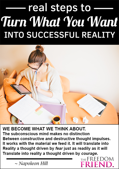 How to take an idea and actually make it into successful, material reality.