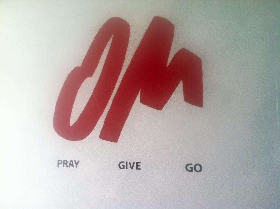 Logo at the office in Guatemala City for OM gUATEMALA