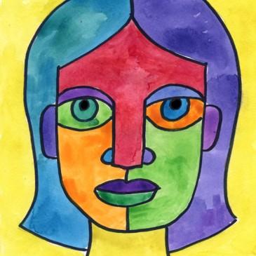 Famous artist class pablo picasso l 39 s art a mobile studio for Basic portrait painting