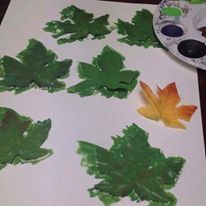 we painted SO MANY leaves