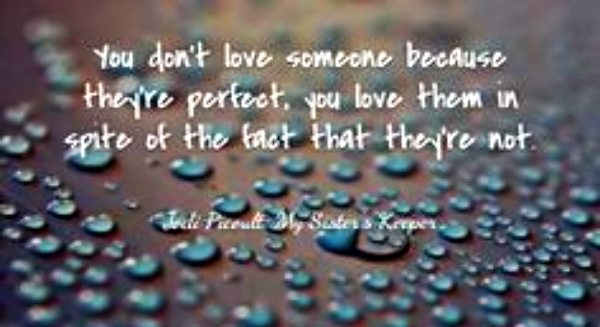 love doesn't need perfection