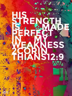 god's grace in our weakness