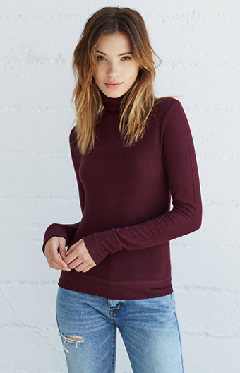 Me To We Ballerina Long Sleeve Turtleneck Top