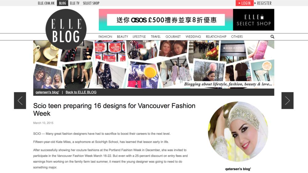 ELLE, HK Blog