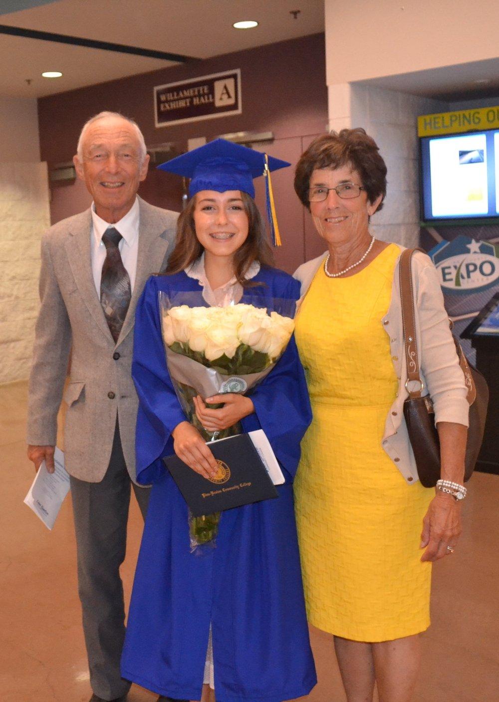 Grandma & Grandpa, Linn-Benton Community College Commencement, 2016