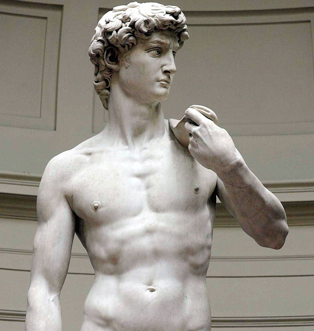 David  – Michelangelo; Galleria dell'Accademia, Florence, Italy – 1501 – 1504