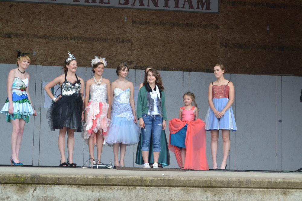 This was my first-ever fashion show in Scio, Ore., in 2013. I didn't even know what a fashion designer was at this point. Because of this experience, however, I was prepared for future shows.