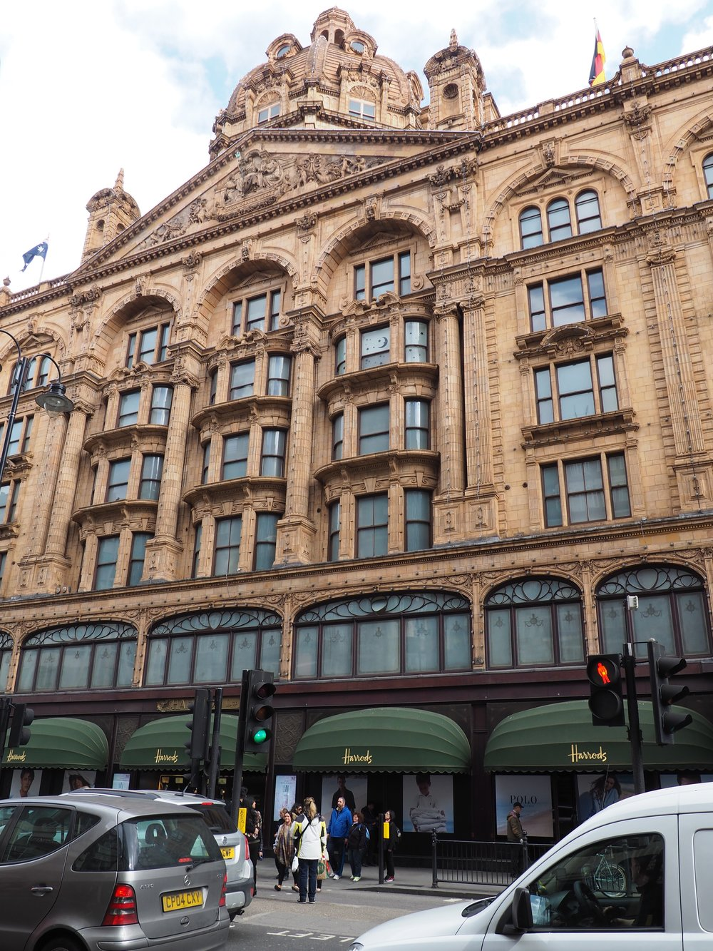Outside Harrods in Central London