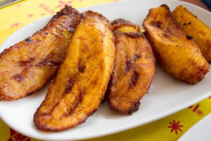 Fried Plantains, aka my new favorite snack.