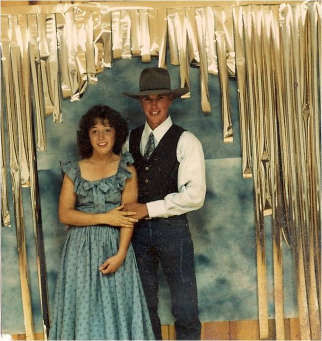 "Mom and Dad, ""going steady,"" homecoming, 1987"
