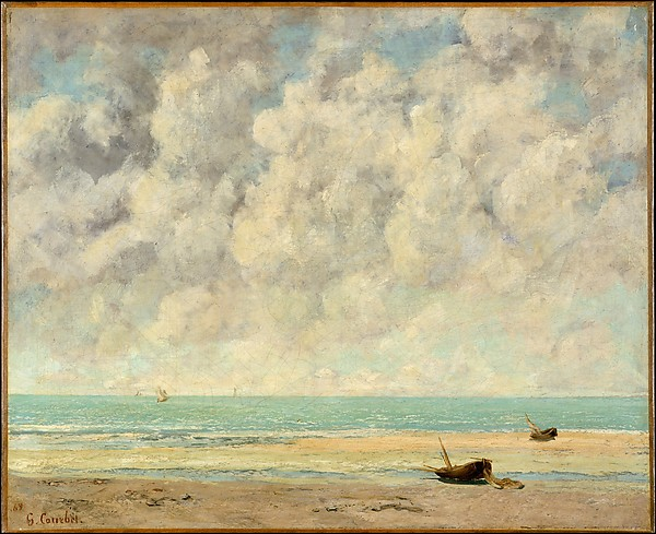 The Calm Sea , Gustave Courbet (French, Ornans 1819–1877), 1869 Oil on canvas ,  New York, Metropolitan