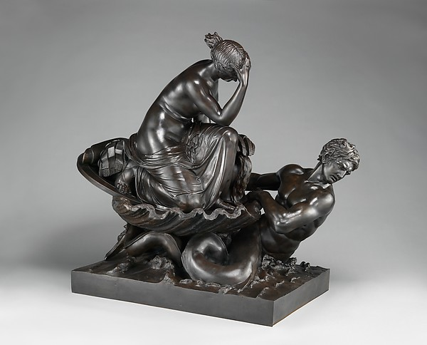 Thetis Transporting Arms for Achilles , William Theed the Elder (British, 1764–1817), Bronze, New York, Metropolitan