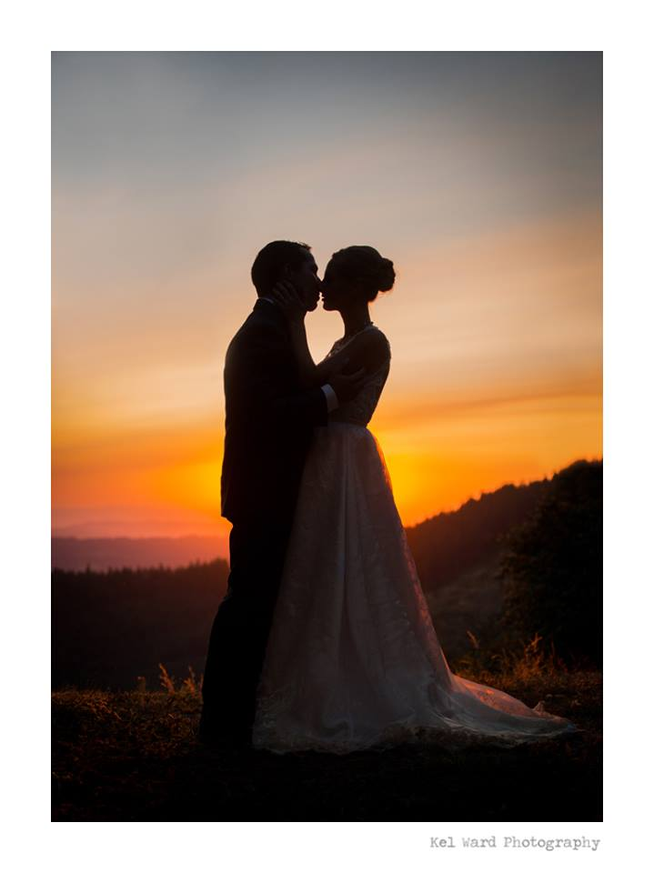 A sneak-peek from  Kel Ward Photography  of Andrew and his bride, Riane, in her  Kate Miles  gown