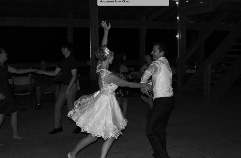 The 50's style dancing dress under the removable full overskirt
