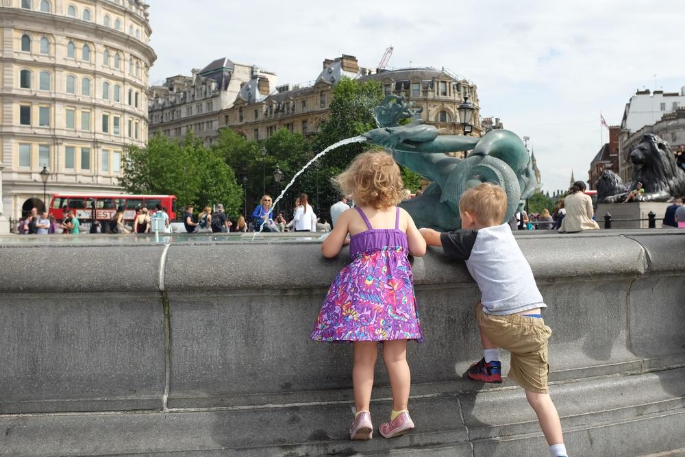 Fountains at Trafalgar Square