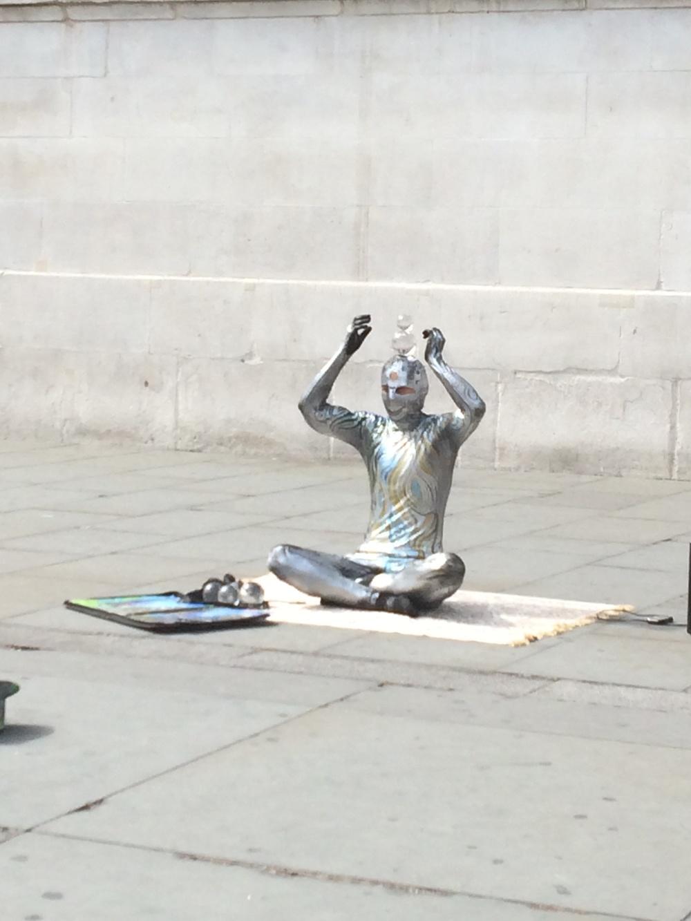 Street performer at Trafalgar Square