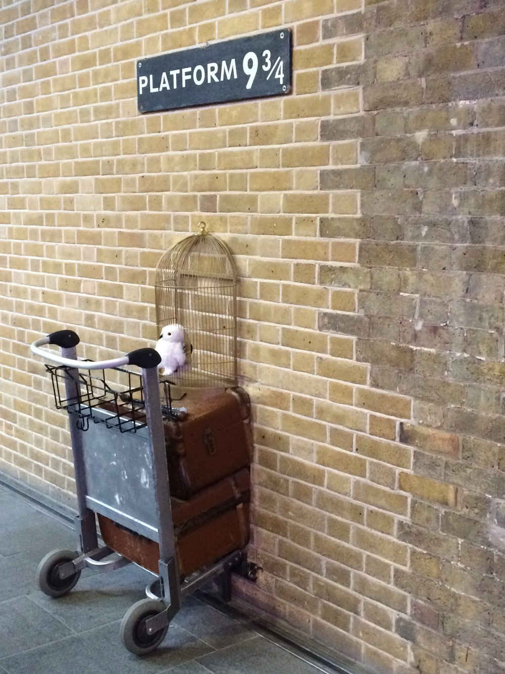 Harry Potter's cart at Platform 9 3/4 at King's Cross Station