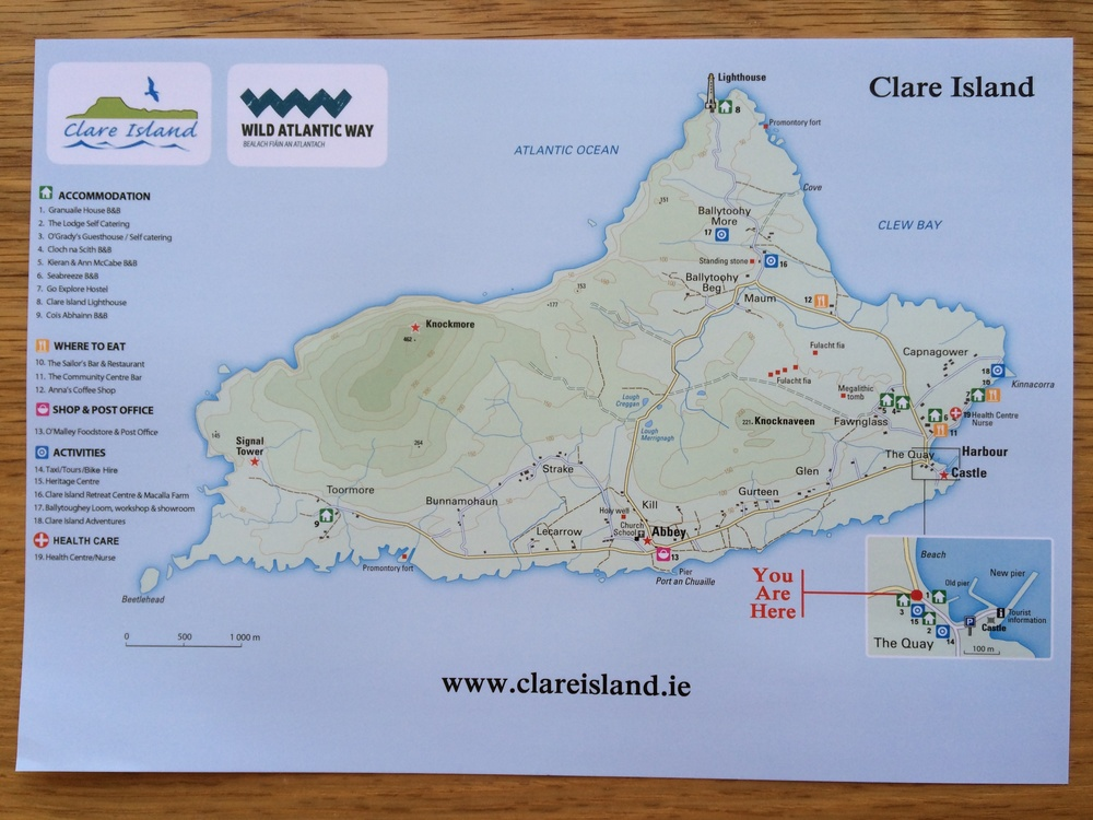 Map of Clare Island
