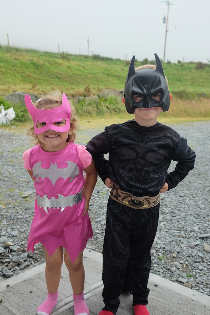Batman and Batgirl on the Farm