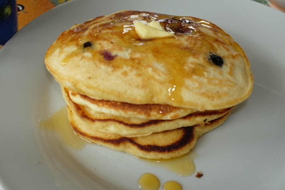 mmmm...mmmm...Blueberry pancakes