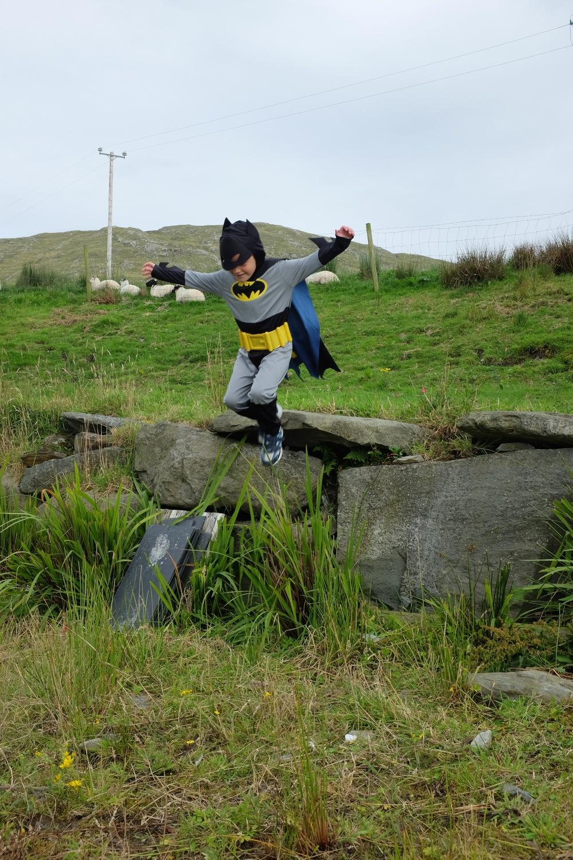 Batman gliding