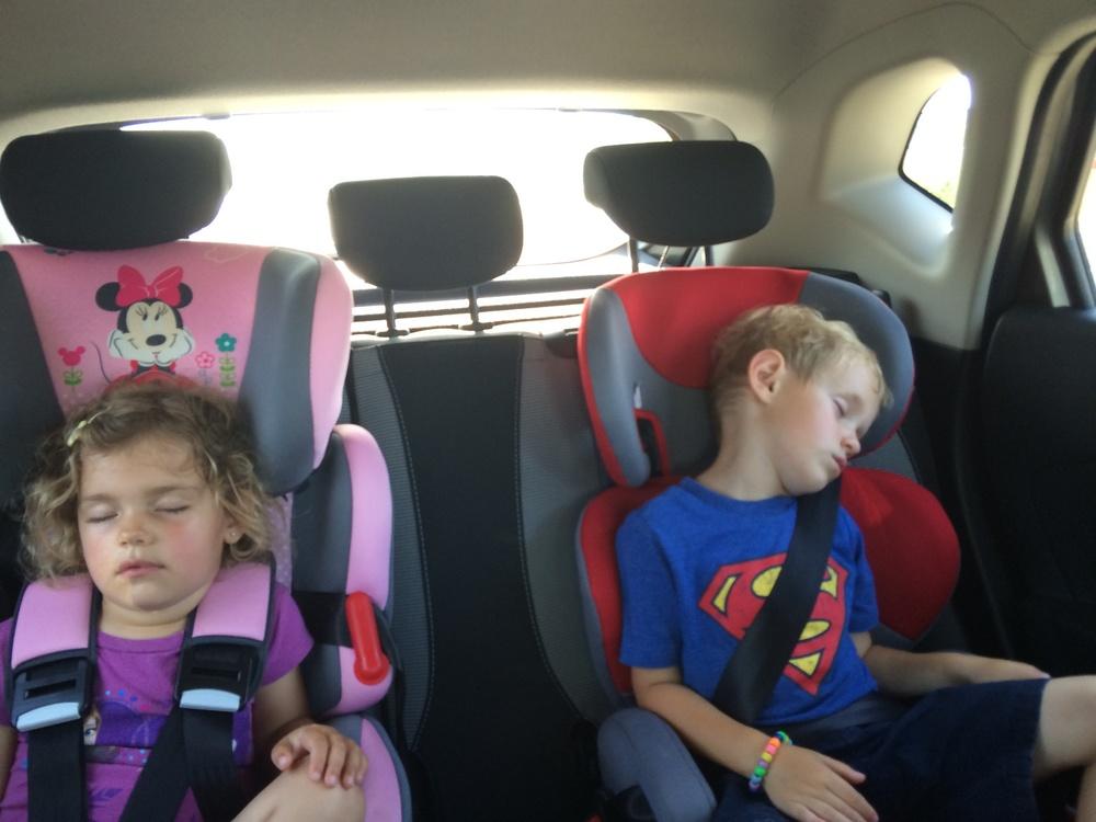 Exhausted zoo goers