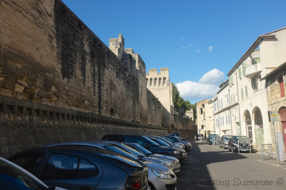 Car Park next to the ramparts of Avignon
