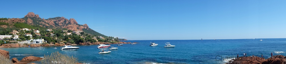 A panorama of a portion of our drive on Corniche De L'Esterel