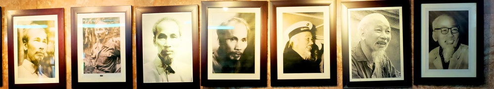 Pictures of Ho Chi Minh at different points in his life.