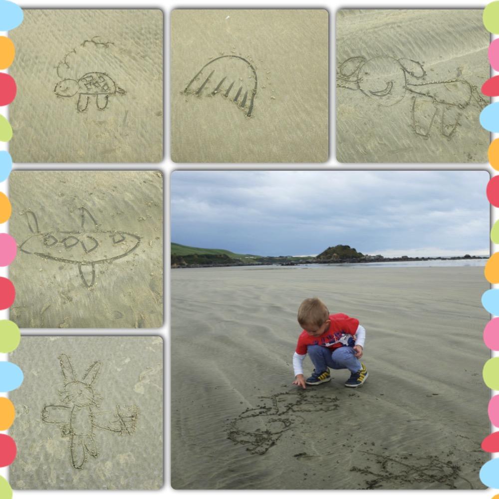 Kian's sand art :)