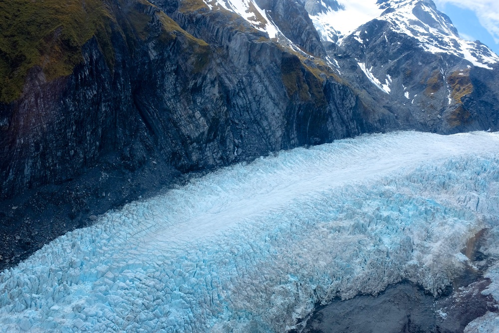Franz Josef Glacier From the Helicopter