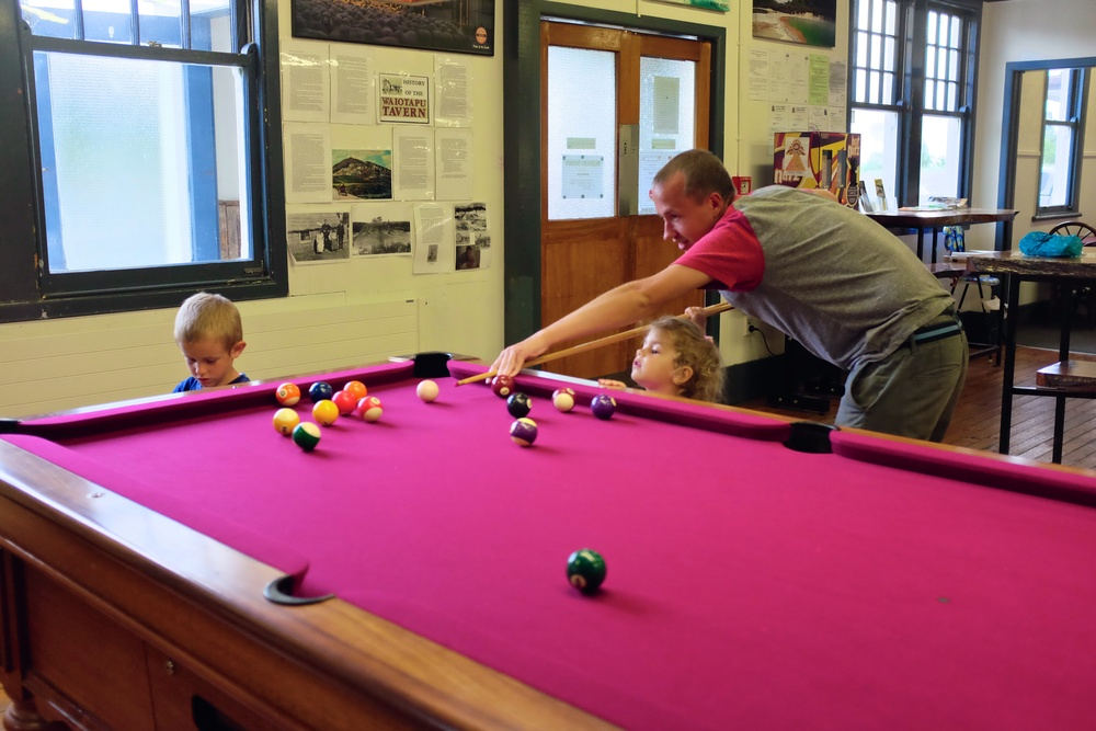 Playing pool with daddy