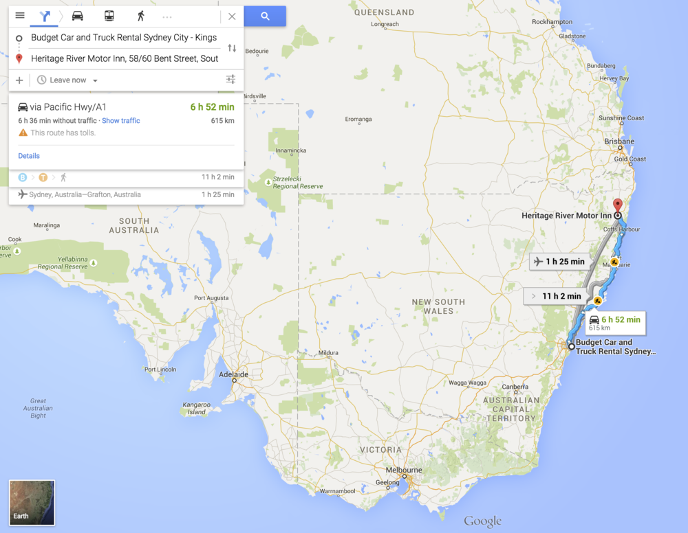 Australia Road Trip Day One: Sydney to Grafton